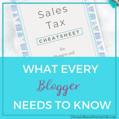 Sales Tax for Bloggers and Online Content Creators