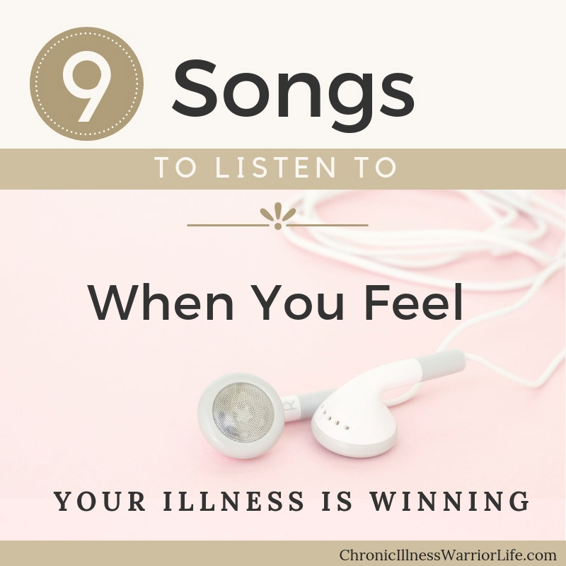 I just love these songs. I would have never thought a kid's movie would have such perfect songs for fighting a mental or chronic illness. This warrior playlist is my go to for days that I feel like my chronic illness is winning. #playlist #warriorsongs #chronicillnesswarriorlife #chronicillness #mentalillness #songs #inspirationalsongs