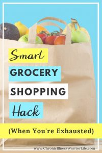 So smart! I am always looking for ways to manage daily life tasks that conserve my energy.What a great way to make grocery shopping easier. Definitely will try this.