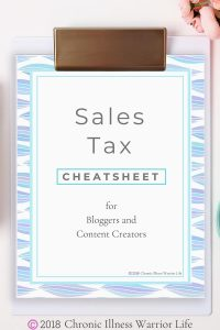 As a blogger and content creator, I've never given sales tax for bloggers a second thought. I'd be willing to bet you haven't either. Ignorance is bliss until the state files criminal charges against you. Yes, it can really happen. #chronicillnesswarriorlife #bloggertips #taxes #entrepreneur