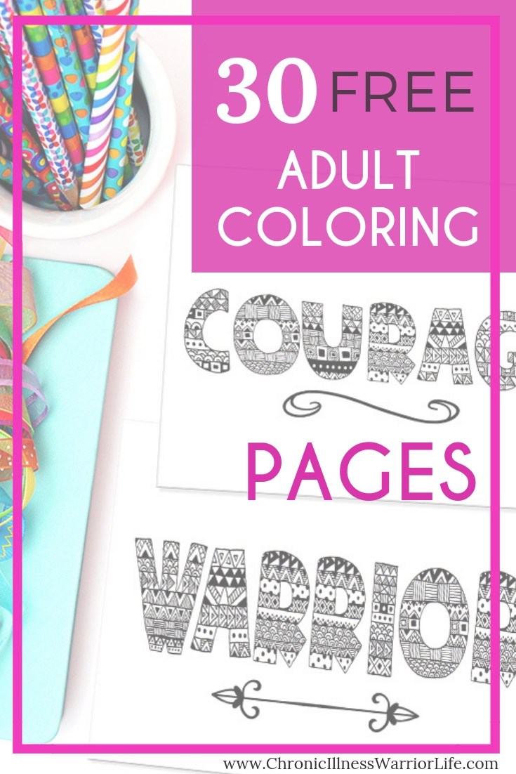 Color your way to relaxation and mindfulness with these 30 free adult coloring page printables. Complex and challenging mandalas, owls, flowers, and quotes.