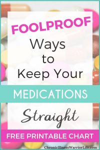 It's hard to stay on track with all of my medicines. It seems like I take so many! Great ideas for foolproof ways to keep my medications straight! Definitely will try these. #chronicillnesswarriorlife #chronicillness #chronicillnesslife #chronicillnesshacks #medicationorganization