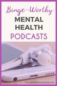 This is a great list of mental health podcasts that cover the many types of mental illnesses. I can't wait to listen to them and find my favorites. #chronicillnesswarriorlife #chronicillnesstips #chronicillness #chronicillnesslife  #spoonie #spoonielife  #mentalhealth  #mentalillness #mentalhealthpodcasts #depressionpodcasts #anxietypodcasts