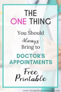 Living with a chronic illness I feel like I am always going to doctor's appointments. But I never remember everything I want to ask because of this annoying brain fog I have all of the time. This printable for doctor's appointments is perfect for me to print and bring with me for every appointment I have. It's also perfect to add to my personal medical information binder. #chronicillnesswarriorlife #chronicillness #medicalorganization #medicalbinder #freeorganizingprintable