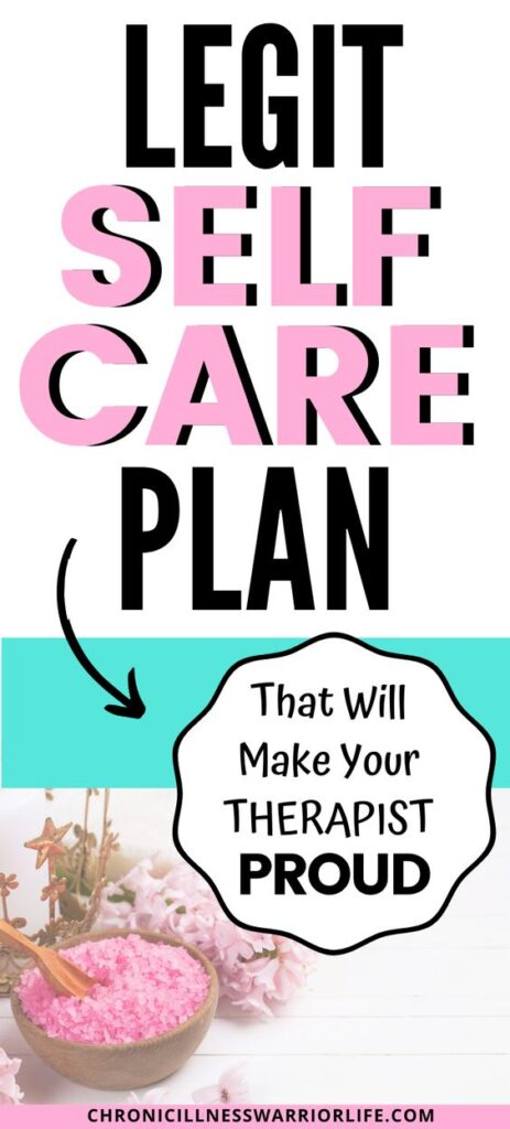 My therapist is always telling me how important self-care is, but I just didn't know where to start. This is a great step by step plan on how to create a self-care plan and I will finally tackle this. #chronicillnesswarriorlife #chronicillness #chronicillnesslife #mentalillness #mentalhealth #selfcare #selfcareplan #selfcareideas #selfcareactivities #selfcareworksheet #selfcareprintable #selfcaretoolkit