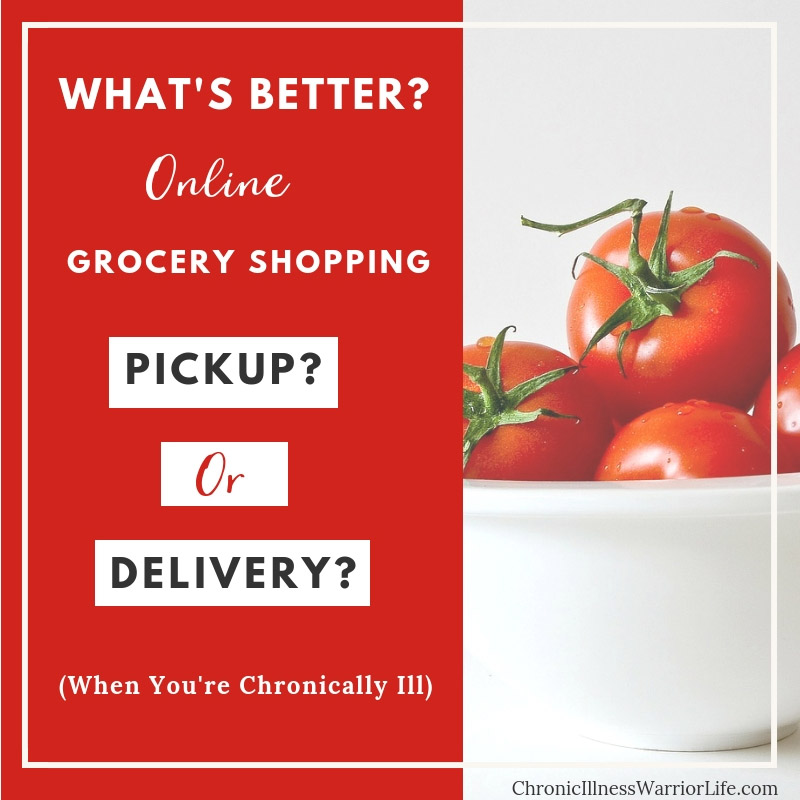 Online grocery shopping is the greatest thing for people with a chronic illness. The next question is what is better grocery delivery or grocery pickup?