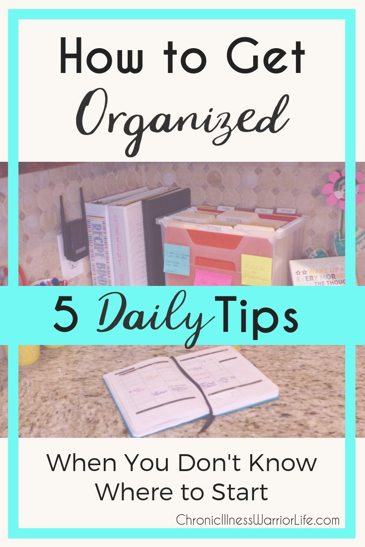organization items on a kitchen counter
