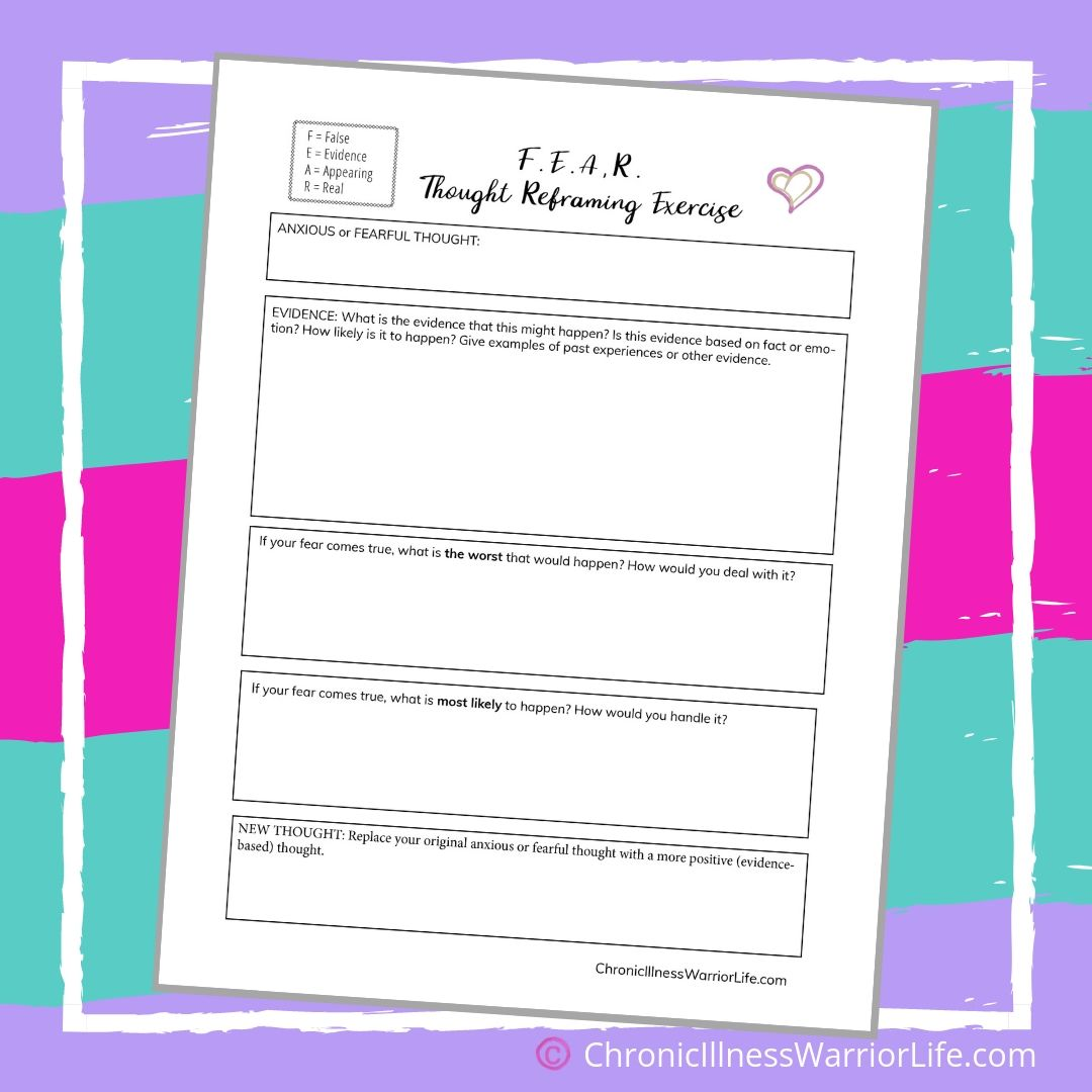 Free-Printable-Mental-Health-Anxiety-Worksheet-FEAR-Though ...