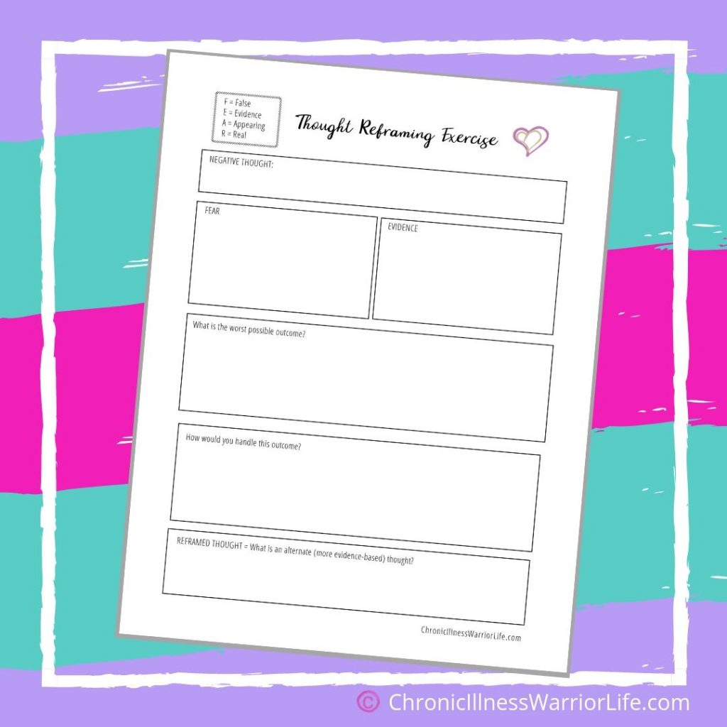 FREE Printable Mental Health Worksheets - Chronic Illness ...