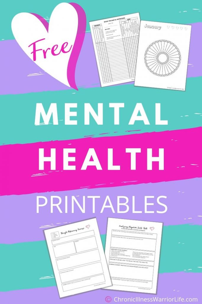 Free Printable Mental Health Worksheets Chronic Illness Warrior Life