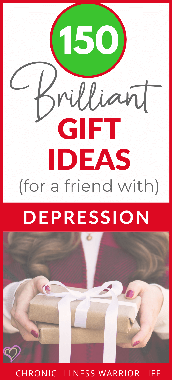 In this comprehensive Christmas gift guide with over 150 ideas, you will find a thoughtful present for someone with depression or anxiety. You might even find some must-have gift ideas that you want to put on your own Wish List! #giftideas #depression via @chronicillnesswarriorlife
