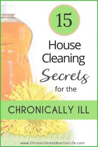 I wish I would have known these house cleaning secrets a long time ago. Cleaning the house with a chronic illness can be overwhelming. These surprising cleaning tips are awesome life hacks for chronically ill people like me. A great list of cleaning products to make life easier. My favorite are the best bathroom cleaning tools but I also love the clever kitchen cleaning hacks. I am ditching the overwhelm forever. #chronicillness #cleaninghacks #spoonielife