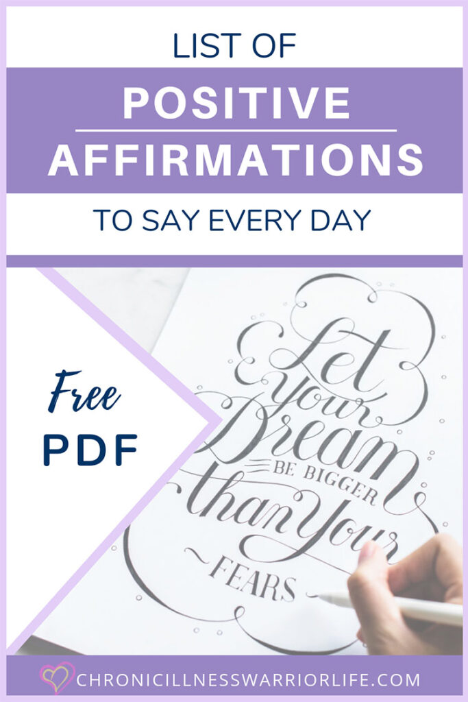 Wow! This is a true mega-list of positive affirmations to say every day. This post gave me so many ideas of affirmtions for strength and courage as well as a list of positive affirmations for mental health. You can also download the Free printable list of positive affirmations pdf. #mentalhealth #affirmations #freeprintables