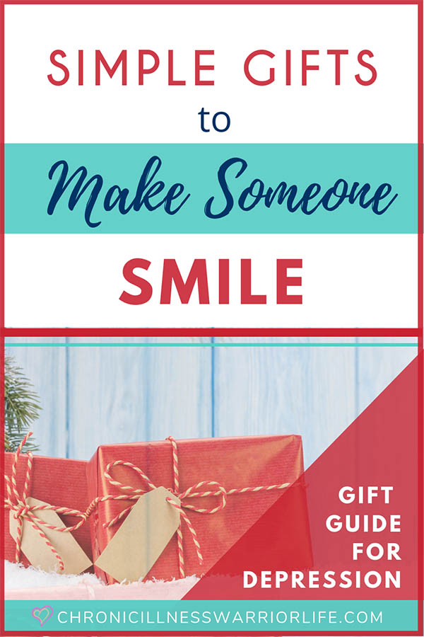This is a great Christmas gift guide of encouraging gifts for depressed people. From simple gifts to make someone smile to inspirational gifts of strength and courage, this gift list has it all. Looking for encouraging gifts for depression is easy and I am definitely saving this post for the next time I need gift ideas for someone going through a hard time. #depression #giftideas #encouragemet #mentalhealth #christmasgifts #inspirationalgifts
