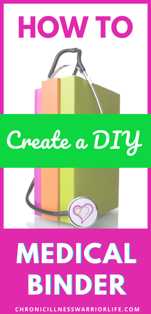 Use this step-by-step tutorial on how to create your own medical binder-DIY style. Make sure you stay on top of your health, especially when you live with a chronic illness. Keep your medical history and current details organized and at your fingertips. You can even get free medical printables to get you started. #health #chronicillness #medicalbinder #freeprintables #medicalprintables #medicalhistory #medicalinformaton