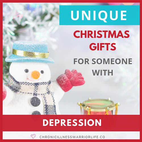 I need great (not just good) unique Christmas gift ideas for people with depression. I have some friends and family who suffer from depression and I want to give them a gift that will make them smile. You definitely need to save this gift guide with the best quirky, creative, and thoughtful gifts for a depressed friend. #uniquegifts #depression #christmasgift #mentalhealth #giftideas