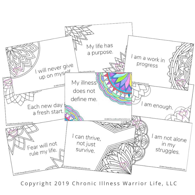 Adult Coloring Affirmation Starter Kit