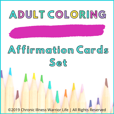 Adult Coloring Affirmation Cards