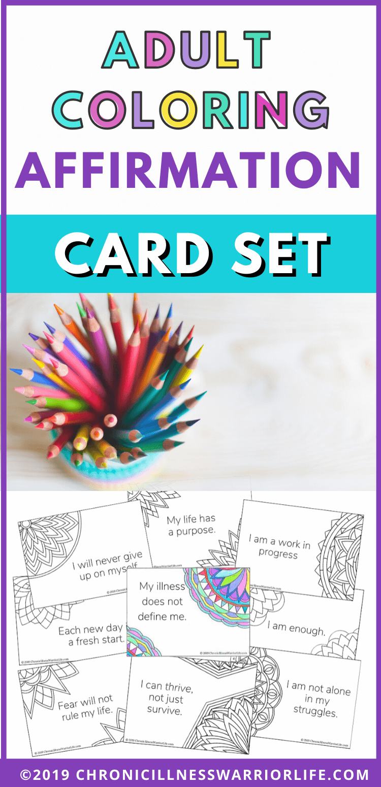 These Affirmation cards are perfect for me to start saying my affirmations everyday. I love to color and these are easy and printable. #affirmations #selfcare #mentalhealth #bipolar  via @chronicillnesswarriorlife