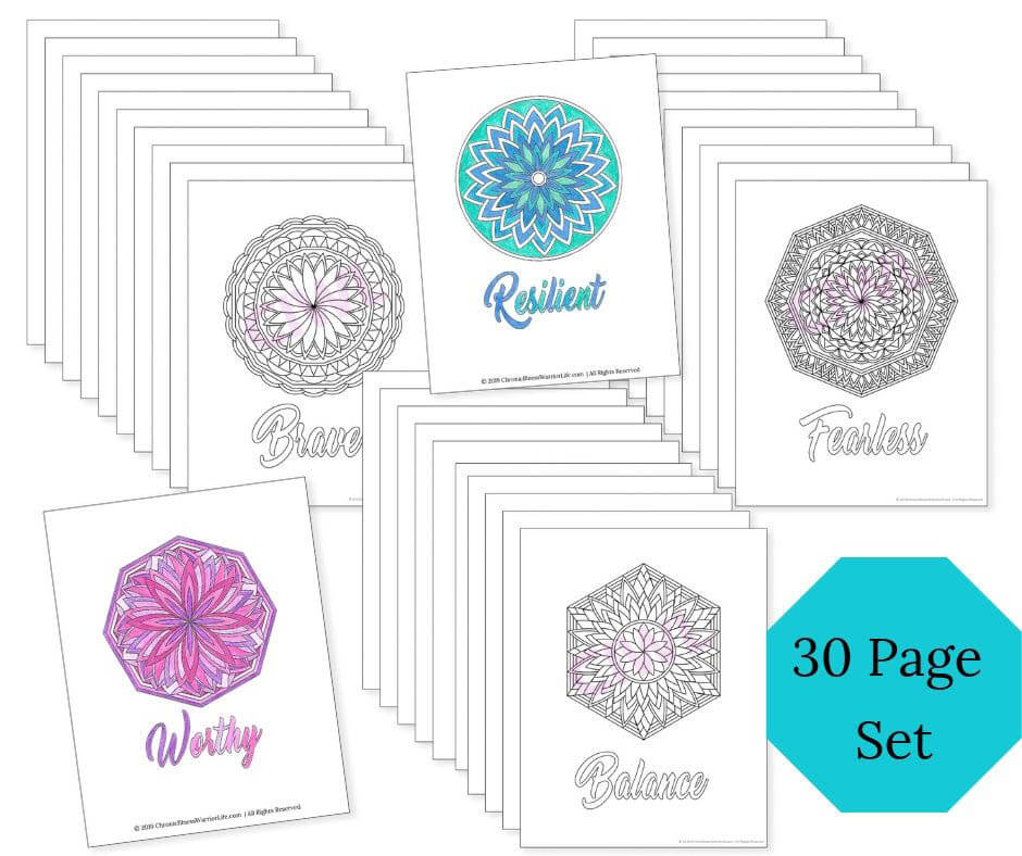 Adult Coloring Therapeutic Mandala Pages