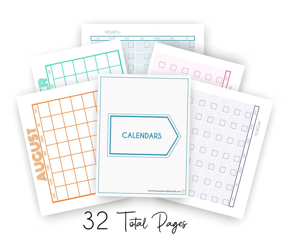group of calendars