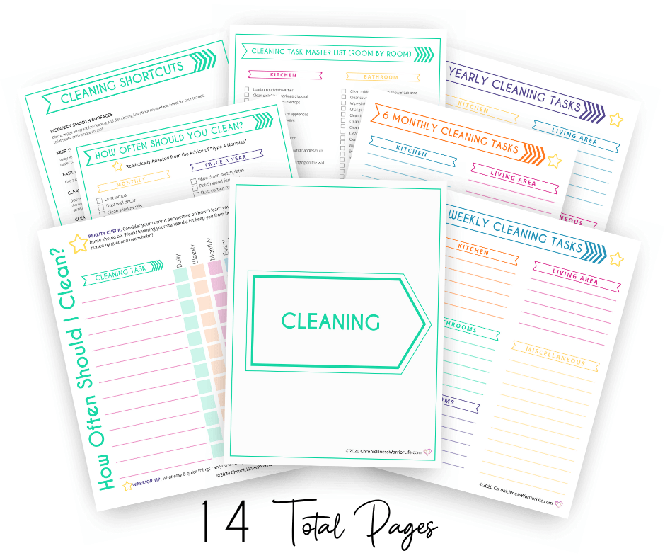 group of cleaning printables