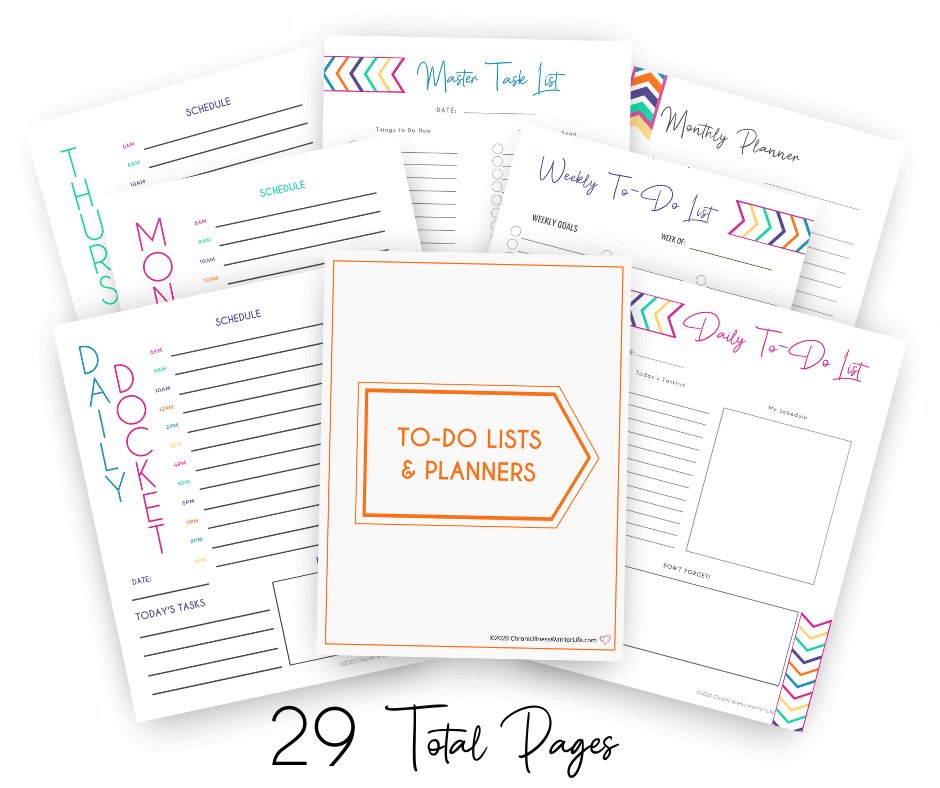 group of to do lists and planner printables