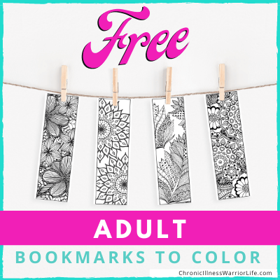 60+ Completely FREE Adult Coloring Bookmarks