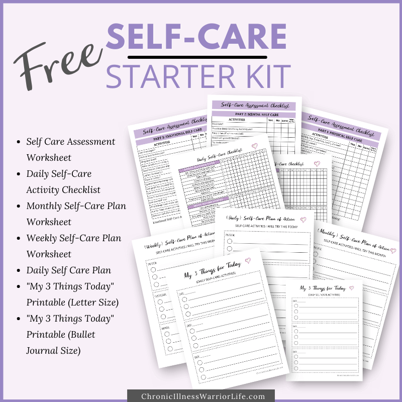 several printables to use for self care