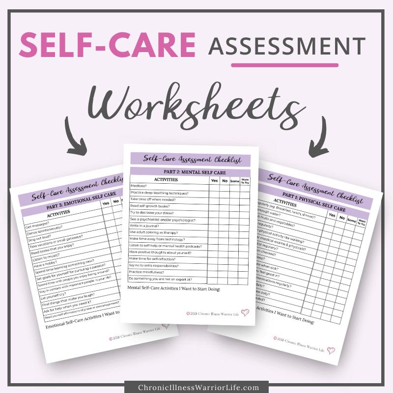 3 self care assessment worksheets