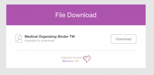 I am always forgetting where I put important medical information. Having a chronic illness, I have so much stuff to keep organized. This binder has exactly what I need! #chronicillnesswarriorlife #chronicillness #mentalillness #chronicillnesshacks #spoonie #spoonielife #mentalhealth #medicalorganization #medicalbinder #printablebinder #organizationprintables